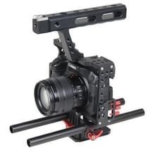 YELANGU YLG0904A-B Video Camera Kooi Stabilisator met Handgreep voor Panasonic Lumix DMC-GH4 / Sony A7 & A7S & A7R & A7RII & A7SII (rood)