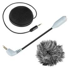 BOYA door-MM2 omnidirectionele Stereo condensatormicrofoon met windscherm voor Smartphones  DSLR camera's en videocamera 's