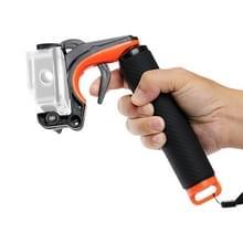 Sluiter trigger + drijvende hand greep duiken drijfvermogen stok met verstelbare anti-lost band & schroef & moersleutel voor GoPro HERO8 zwart
