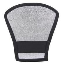 2 in 1 (Zilver / Wit) Waaiervormig opvouwbaar Reflector Board  Afmetingen: 20.0 x 18.5 x 10.5 cm