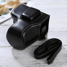 Full Body Camera PU lederen Case tas met riem voor Olympus EPL7 / EPL8 (zwart)