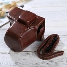 Full Body Camera PU lederen Case tas met riem voor Olympus EPL7 / EPL8 (koffie)