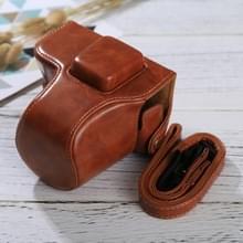 Full Body Camera PU lederen Case tas met riem voor Olympus EPL7 / EPL8 (bruin)