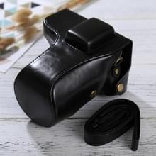 Full Body Camera PU lederen Case tas met riem voor Samsung NX300(Black)