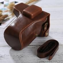 Full Body Camera PU lederen Case tas met riem voor Samsung NX300(Coffee)