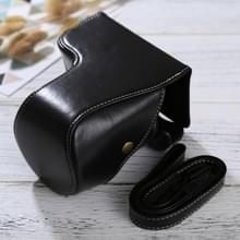 Full Body Camera PU lederen Case tas met riem voor Sony ILCE-6500 / A6500 (zwart)