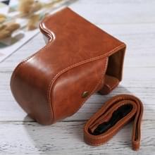 Full Body Camera PU lederen Case tas met riem voor Sony ILCE-6500 / A6500 (bruin)