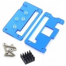LandaTianrui LDTR-PJ013 ABS beschermende Case met koellichaam voor Raspberry Pi nul W(Blue)