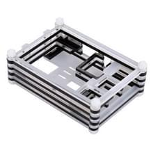9 lagen acryl Box Shell hoes met Cooling Fan gat voor Raspberry pi 3(Black)