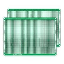 2 PCS LandaTianrui LDTR - WG032 / D4 Double-sided Glass Fibre Breadboard PCB Prototype Board  Size: 9 x 15cm
