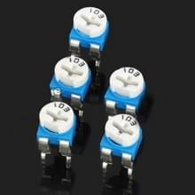 5 stuks 0.1W 50V horizontale 103 10 K Ohm regelbare weerstand
