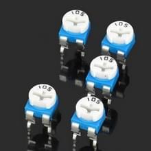 5 stuks 0.1W 50V horizontaal 105 regelbare weerstand van 1 M Ohm