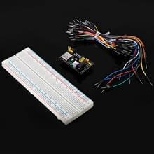 TB - 00013 DIY Kit 830 gat Breadboard + voedingsmodule + 65 sprong draden - Colormix