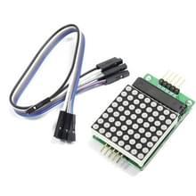 MAX7219 Nieuwe rode Dot Matrix Module Support gemeenschappelijke kathode aandrijving met 5-Dupont lijnen voor Arduino