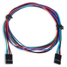 LDTR - YJ028 / C 4 - pins Female naar vrouw Jumper kabel voor Arduino Wire / 3D-Printer  kabel lengte: 70cm