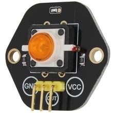 LandaTianrui LDTR-RM012 Digital Push Button with Yellow LED Indicator Light Module for Arduino UNO / MEGA / Raspberry Pi / AVR / STM32(Black)