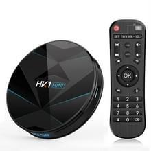 HK1MINI + 4K HD Smart TV BOX  Android 9.0  RK3318 Quad-Core 64bit cortex-A53  4GB + 32GB  ondersteuning TF-kaart  HDMI  WIFI  AV  LAN  USB (zwart)