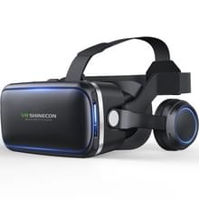 VR SHINECON G04E Virtual Reality 3D Video Glasses Suitable for 3.5 inch - 6.0 inch Smartphone with HiFi Headset (Black)