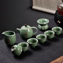 Ge kiln keramische Kungfu Teaware theekopje theepot set  kleur: groen