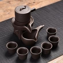 Semi-automatische keramische Kung Fu Teaware set (zwart paars zandsteen molen)
