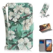 3D-schilderij patroon gekleurde tekening horizontale Flip lederen draagtas voor Xiaomi Redmi opmerking 7/Opmerking 7S  met houder & kaartsleuven & portemonnee (aquarel bloem)