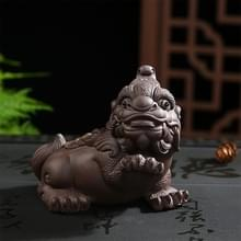 Redware thee trekt lucratieve mythische wilde dieren handgemaakte thee plaat Home Decoratie (rijkdom God beest)