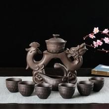 Redware Kungfu thee set huishoudelijke eenvoudige thee Infuser (Dragon en Phoenix)