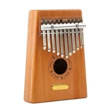 Duim piano kruit 10-Tone vinger piano beginners entry Portable musical instrument kruit vinger piano (houtkleur)