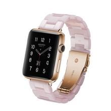 Eenvoudige mode hars horloge band voor Apple horloge serie 4 44mm & serie 3 & 2 & 1 42mm (roze)