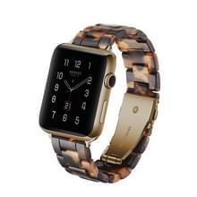 Eenvoudige mode hars horloge band voor Apple horloge serie 4 40mm & serie 3 & 2 & 1 38 mm (schildpad)