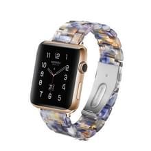 Eenvoudige mode hars horloge band voor Apple horloge serie 4 40mm & serie 3 & 2 & 1 38 mm (blauwe oceaan)