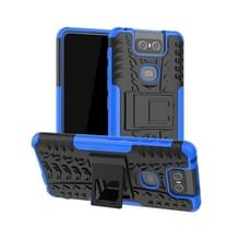 Tire Texture TPU + PC schokbestendige beschermhoes met houder voor ASUS Zenfone 6 ZS630KL (blauw)