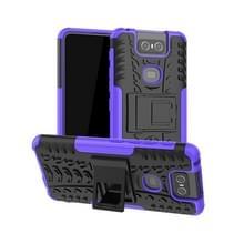 Tire Texture TPU + PC schokbestendige beschermhoes met houder voor ASUS Zenfone 6 ZS630KL (paars)