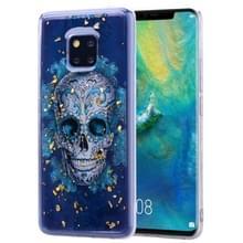 Cartoon patroon goud folie stijl dropping lijm TPU zachte beschermende case voor Huawei Mate20 Pro (schedel)