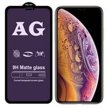 AG matte anti blauw licht Full cover gehard glas voor iPhone XR
