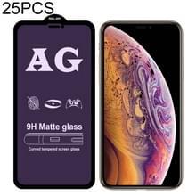 25 stuks AG matte anti blauw licht volledige dekking gehard glas voor iPhone XR