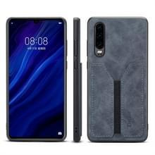 PU + TPU beschermhoes met kaartsleuven voor Huawei P30 (grijs)
