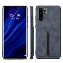PU + TPU beschermhoes met kaartsleuven voor Huawei P30 Pro (grijs)