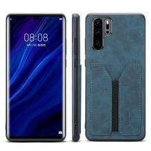 PU + TPU beschermhoes met kaartsleuven voor Huawei P30 Pro (blauw)