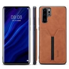 PU + TPU beschermhoes met kaartsleuven voor Huawei P30 Pro (bruin)
