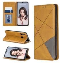 Rhombus textuur horizontale Flip magnetische lederen draagtas met houder & kaartsleuven voor Huawei P30 Lite/Nova 4e (geel)