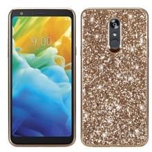 Glitter poeder schokbestendig TPU beschermende case voor LG Stylo 5 (goud)