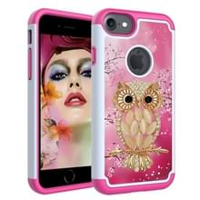 Gekleurde tekening patroon PC + TPU beschermende case voor iPhone 6/6s (shell Owl)