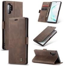 CaseMe-013 multifunctionele horizontale Flip lederen draagtas met kaartsleuf & houder & portemonnee voor Galaxy Note 10 + (koffie)