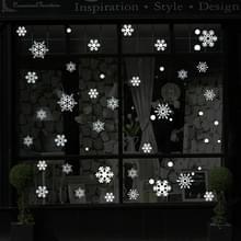 Creatieve venster glazen deur verwisselbare kerst Festival muur sticker Decoretion (sneeuwvlok)