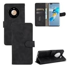 Voor Huawei Mate 40 Pro Solid Color Skin Voel magnetische gesp horizontale flip kuittextuur PU lederen kast met Holder & Card Slots & Wallet(Zwart)