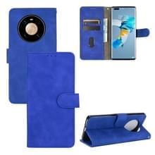 Voor Huawei Mate 40 Pro Solid Color Skin Voel magnetische gesp horizontale flip kuittextuur PU lederen kast met Holder & Card Slots & Wallet(Blauw)