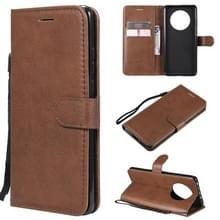 Voor Huawei Mate 40 Solid Color Horizontale Flip Beschermende lederen hoes met houder & kaartslots & portemonnee & fotolijst & lanyard(bruin)