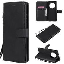 Voor Huawei Mate 40 Solid Color Horizontale Flip Beschermende lederen hoes met houder & kaartslots & portemonnee & fotolijst & lanyard(zwart)