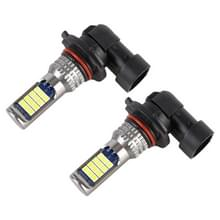 9006 2 PCS DC12-24V / 8 6W auto mistlampen met 24LEDs SMD-3030 & Constant Current  Bag Packagin (Lime Light)
